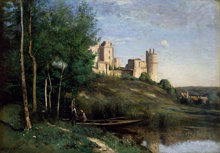Jean-Baptiste Camille Corot, Rovine del castello di Pierrefonds, 1825-1872