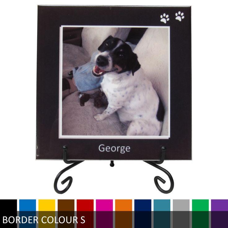 Personalised Photo Ceramic Tile Print - Pet Dog
