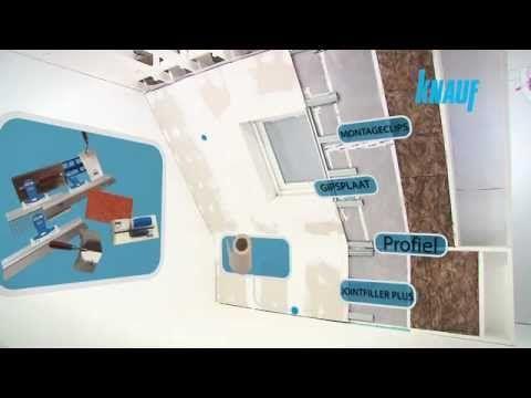 Hellend dak afwerken met gipsplaten - YouTube