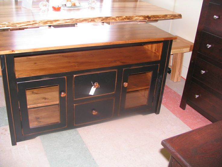 Stand From Jesse. This One Is Done In A Black Distressed Paint With Century  Pine Finish.
