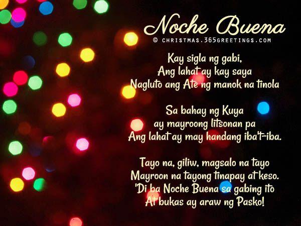 Christmas Songs Tagalog List