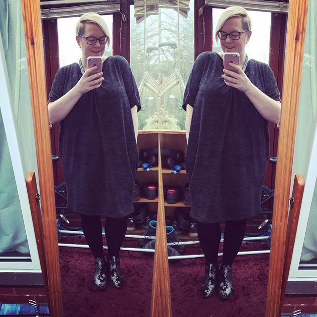 Todays work ootd is a dress from TKMaxx and my bargain 3 Primark boots! #psootd #workootd #tuesdayoutfit #psblogger #fatshion