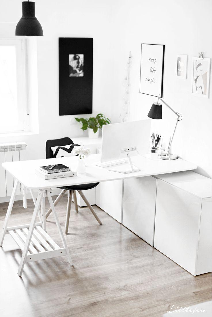 Las 25 mejores ideas sobre peque os espacios de oficina - Espacios de trabajo ikea ...