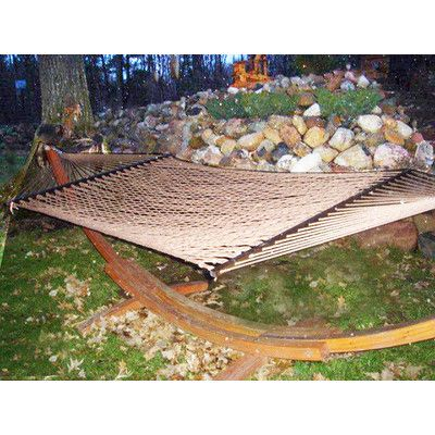 Buyers Choice Phat Tommy Super Soft Polyester Rope Hammock Color: Mocha