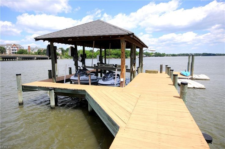 April 5 2017 - This stunning waterfront home with expansive views is located on the Lafayette River. Nestled on the edge of Larchmont, near major shopping and restaurants, this home offers amazing water views and stunning sunsets. The huge dock with 10,000 lb. boat lifts, jet-ski lifts and floating dock allows residents to enjoy the waterways of the Lafayette River, Elizabeth River, Chesapeake Bay, and Atlantic Ocean. The interior showcases an open floor plan with breathtaking views #Norfolk