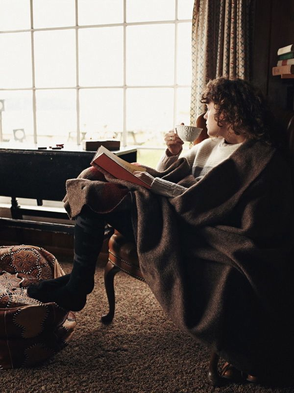 A cozy chair and blanket, a good book a window with a view and a lazy Sunday afternoon...oh, yes!