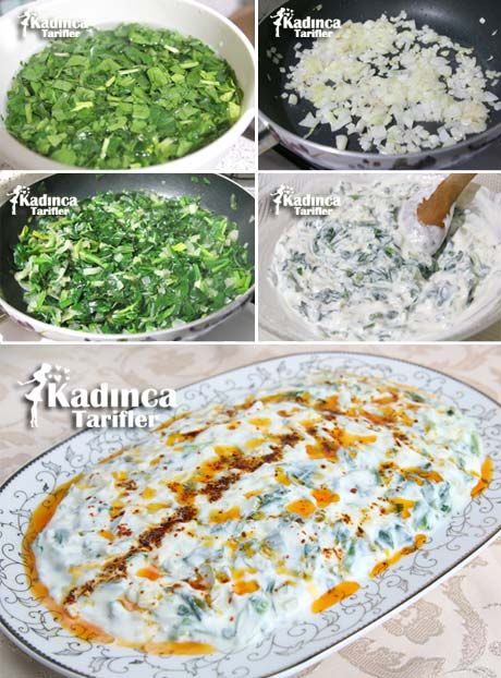 Yoğurtlu Ispanak Salatası Tarifi