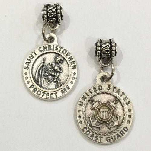 Saint-Christopher-Medal-Pendant-Charm-Protect-US-Coast-Guard-Protection-3-4-Inch