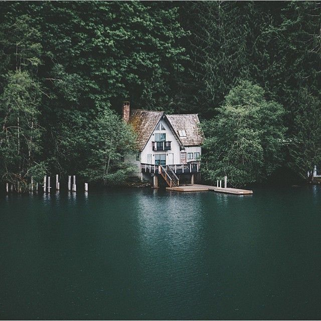 house on a lake