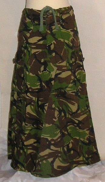 Long Camouflage Skirt DPM Army Camo Military Boho DIY All Sizes Plus Size too. £26.00, via Etsy.