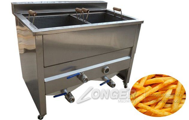 Double Tanks Commercial Coated Peanut Fryer Machine