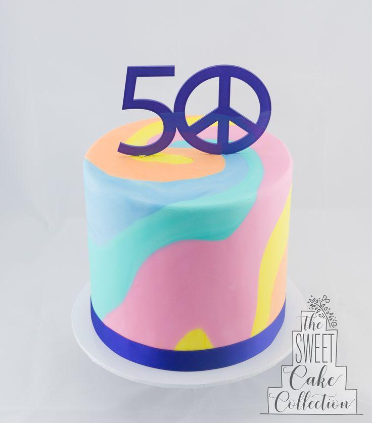 Tie-Dyed Hippie Cake