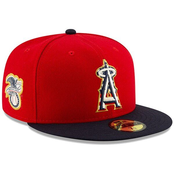 best price hot products factory outlet Men's Los Angeles Angels New Era Red/Navy 2019 Stars & Stripes 4th ...