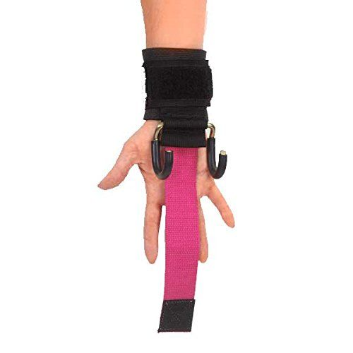 LPG Muscle Haulin Hooks WOMENS Weightlifting Hooks and Straps Pair Pink -- Read more at the image link.