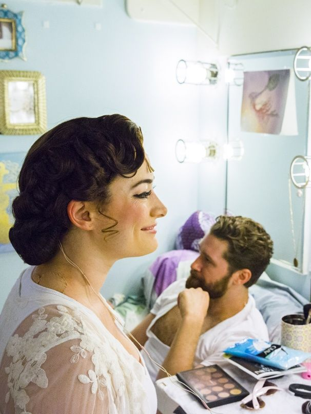 Photo 1 of 17 | Matthew Morrison preps before the show. | Exclusive Photos! Go Backstage with Matthew Morrison, Laura Michelle Kelly & the Stars of Finding Neverland | Broadway.com