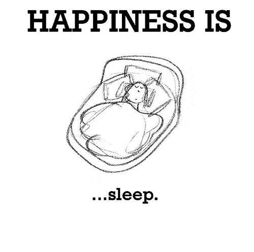 Happiness #182: Happiness is sleep.