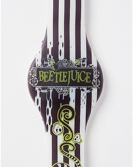Striped Beetlejuice LED Watch - Spencer's
