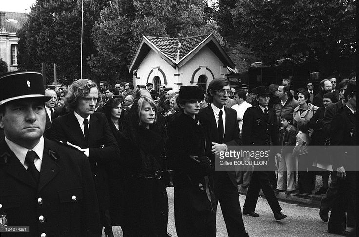 Photo d'actualité : Funeral of Robert Boulin in France in October,...
