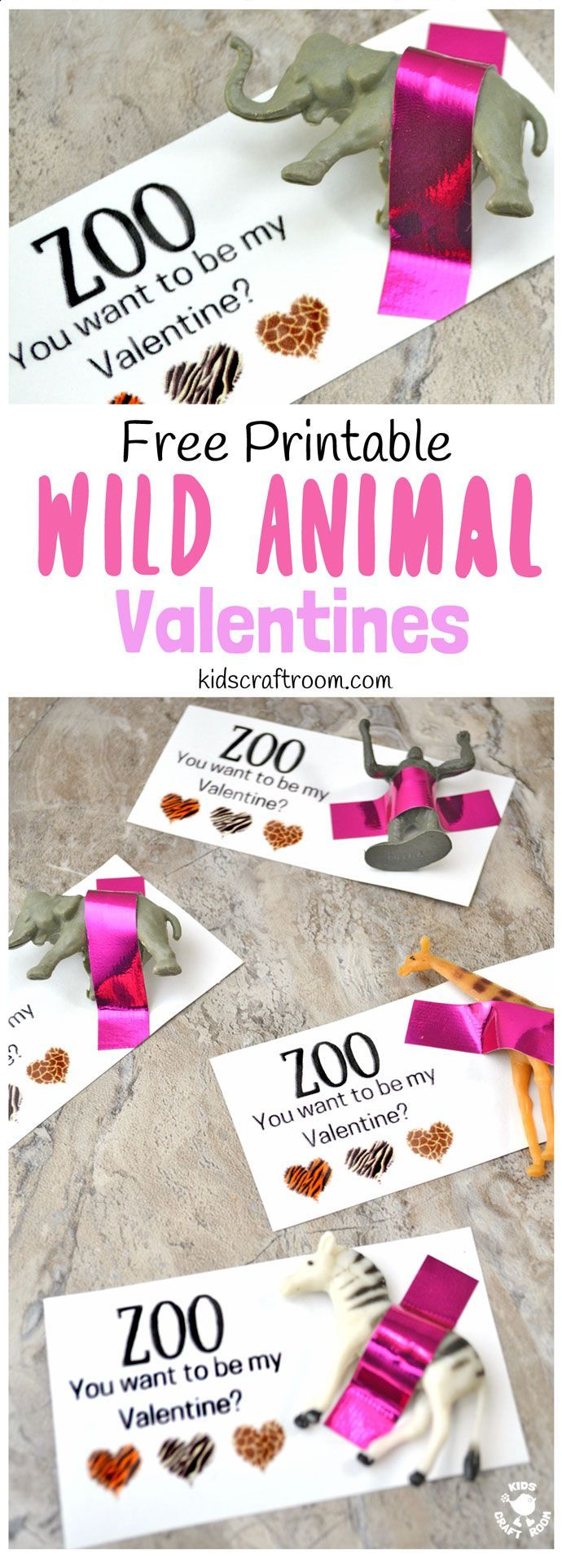 Zoo You Want to be My Valentine? Who could resist these Valentine favors? Printable Wild Animal Valentine Cardsare so easy and sweet. Print the free cards and attach a mini animal for a Valentine gift everyone will love. A great Valentine idea for friends and loved ones big and small!