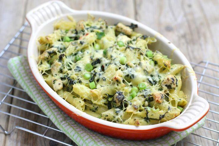 Heerlijke ovenpasta met spinazie en kip! Zalig en snel receptje <3 #promobutlerrecept