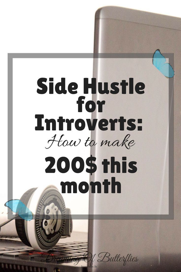 This is the perfect side hustle for every introvert! No phone calls, no stress, AND is pays Weekly! Yay! BTW, it's not blogging!