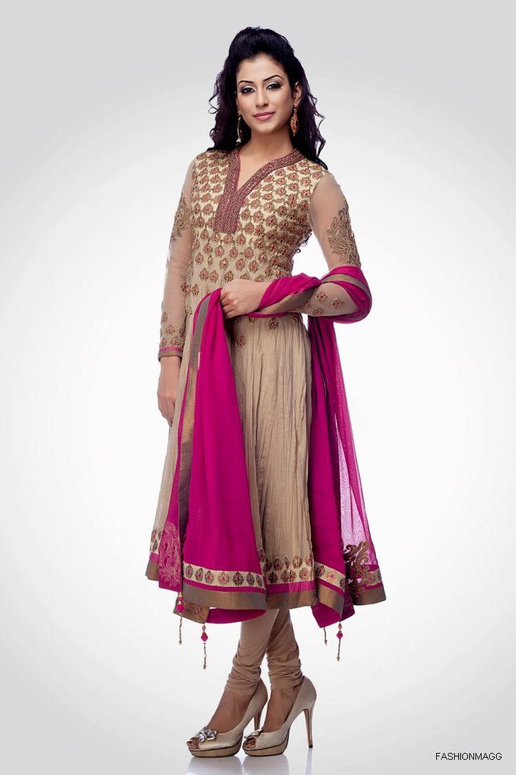 Stylish white dress wedding umbrella frocks churidar designs - Pictures Of Style Anarkali Umbrella Frocks Fancy Dress Suits