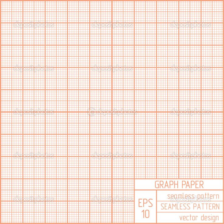 Graph Paper Seamless Pattern Stock Vector