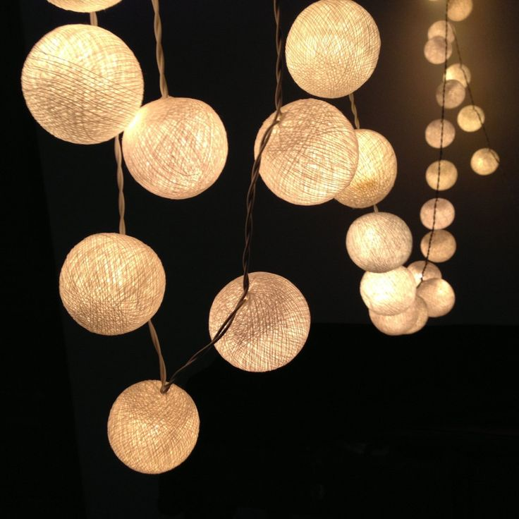 Cotton Ball Lights - Set of 2 | dotandbo.com #DotandBoDream