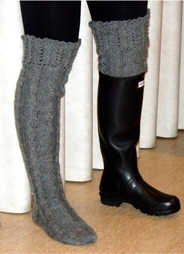 Mönster till långa sockor med frill.