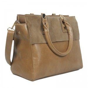 Ladys leather shoulder handbag
