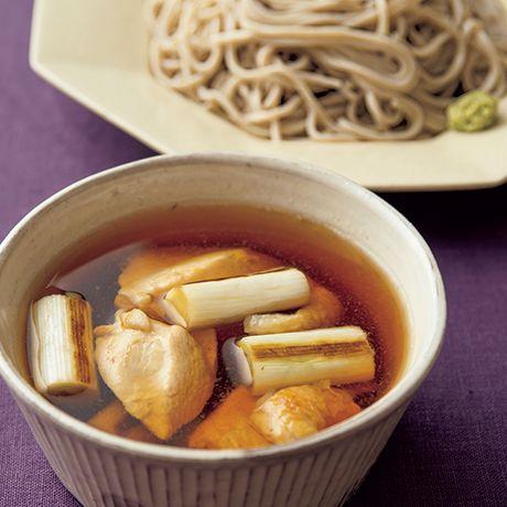 鴨南蛮風つけそば   井原裕子さんのそばの料理レシピ   プロの簡単料理レシピはレタスクラブネット