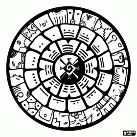 Mayan Calendar coloring page