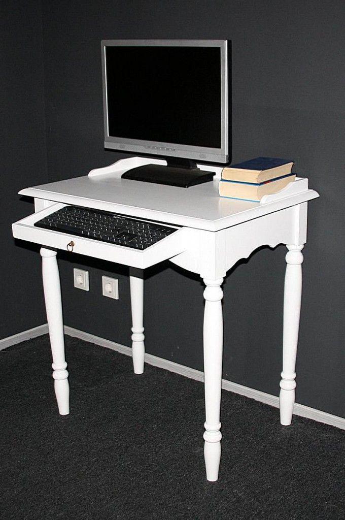 Massivholz Sekretär Mit Tastaturauszug Computertisch Holz Massiv