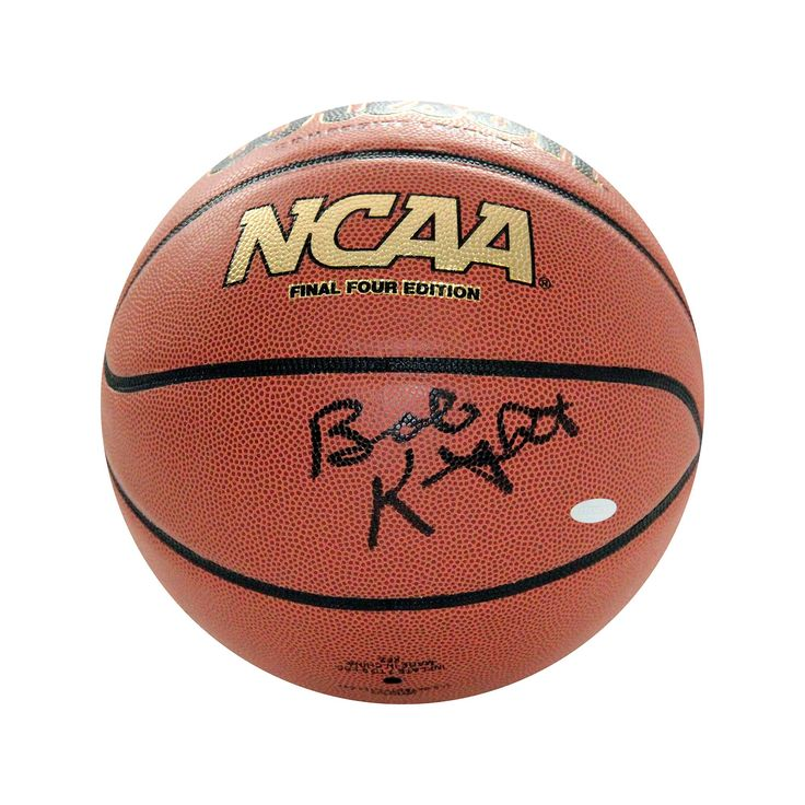 Steiner Sports Bob Knight Ncaa Autographed Basketball, White