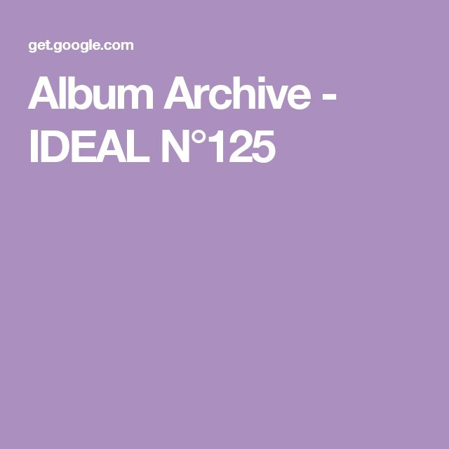 Album Archive - IDEAL N°125