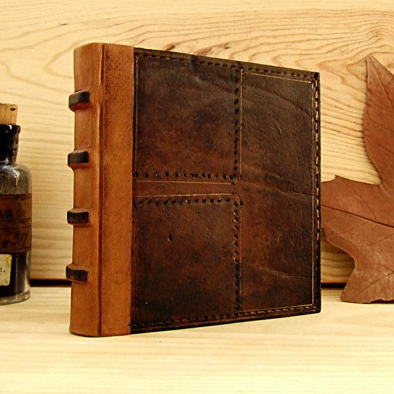 Handmade Leather Journal Brown Vintage Leather by TeoStudio, $70.00