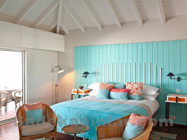 Ferah Yatak Odası Dekorasyonu Deniz Mavisi ile Huzuru Bulacaksınız