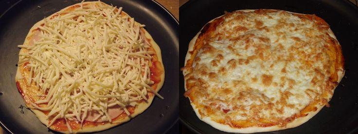 Ropogós olasz pizza, élesztő nélküli tésztából. Újabb sikeres recept Laurától , ahol mindig érdemes körülnézni. Több receptem alap...