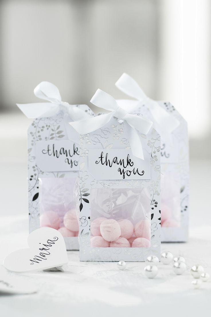 Wedding goodie bag www.panduro.com #DIY #silver #pink