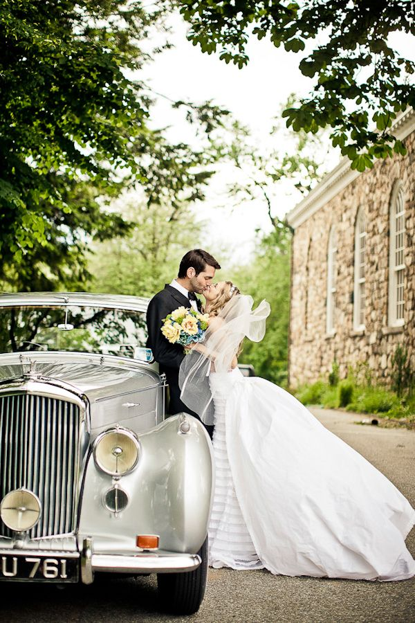 Cute couple at joyful Connecticut wedding with photos by JAG Studios | via junebugweddings.com