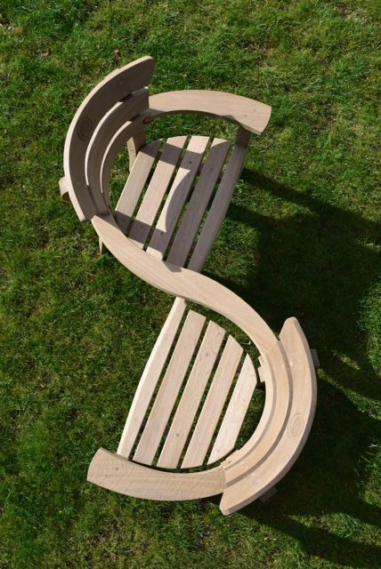 Handmade in England exclusively for PHS, the Meander chair from Gaze Burvill is built for two.