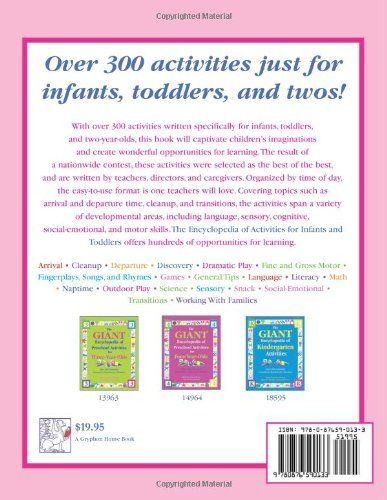The Encyclopedia of Infant and Toddlers Activities for Children Birth to 3: Written by Teachers for Teachers: Kathy Charner: 9780876590133: Amazon.com: Books