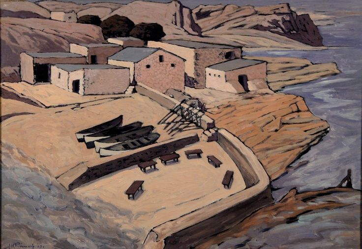 Old Harbour, Hermanus by Pierneef
