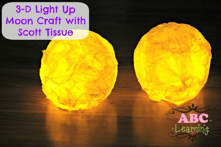 3-D Light Up Moon Craft with Scott Tissue #Scottvalue #Sponsored