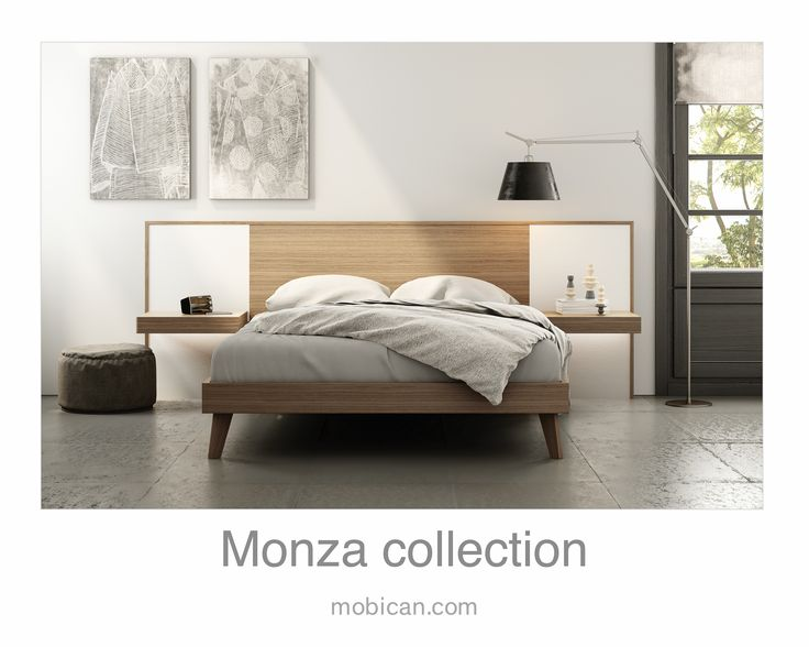 Click here to see Mobican's Monza bed with its lighted night tables | Cliquez ici pour voir le lit Monza de Mobican avec ses tables de nuit illuminées: http://mobican.com/en/monza/ #mobican #bed #madeincanada #nighttable #contemporary #furniture