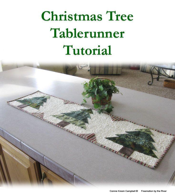 Christmas Tree Table Runner Quilt Pattern: Christmas Tree Runner Tutorial