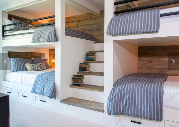 Best 25 full bed loft ideas on pinterest full beds for Bunk beds built into wall
