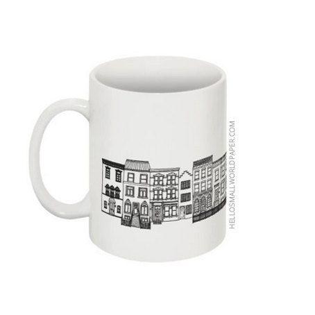 NYC Architecture Mug by Hello Small World Coffee Cup Tea Mug New York Mug Architect Gift Mug