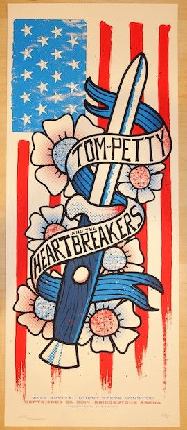 2014 Tom Petty & the Heartbreakers - Nashville Concert Poster by Andy Vastagh