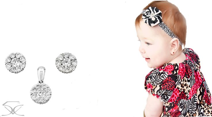 Diamond jewellery for your little cutie pie Visit, http://goo.gl/VZ41P